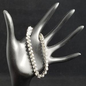 Sterling Silver CZ Heart Tennis Bracelet